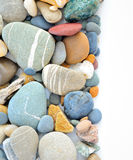 Colored stones on white background Royalty Free Stock Images