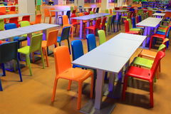 Colored stools Stock Photos
