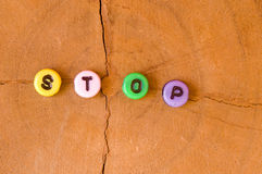 Colored stop Royalty Free Stock Photography