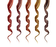 Colored strands of hair Stock Image