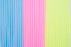 Colored straw Royalty Free Stock Images