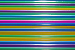 Colored straw tubes Royalty Free Stock Image
