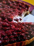 Colored strawberry tart Royalty Free Stock Photos