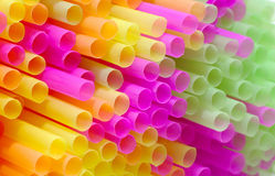 Colored Straws Stock Image