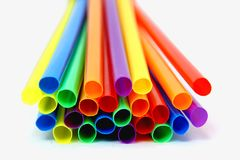 Colored straws Royalty Free Stock Image