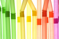 Colored straws Stock Photography