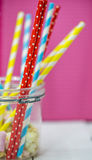 Colored straws for drinks Royalty Free Stock Photo