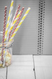 Colored straws for drinks Royalty Free Stock Image