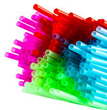 Colored Straws. A nice combination of colored straws Royalty Free Stock Images