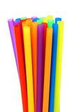 Colored straws standing up Royalty Free Stock Photos