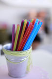 Colored straws Stock Photo