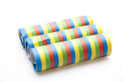 Colored streamers Stock Photos