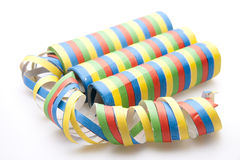 Colored streamers Stock Image