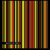 Colored stripe background. Vector. Stock Photography
