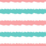 Colored striped background. Horizontal strips painted with a rough brush. Seamless pattern. Vector illustration. Blue, pink, white Stock Images