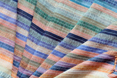 Colored Striped Fabric Background Royalty Free Stock Photography