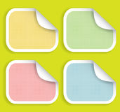 Colored striped stickers Royalty Free Stock Photography