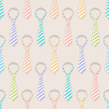 Colored striped ties Stock Images