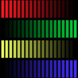 Colored stripes on a black background. Vector illustration red green yellow gradient purple vertical stripes on a black background vector illustration