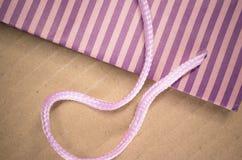colored stripes paper bag Stock Photos