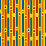 Colored strips and circles. Geometric pattern vector illustration