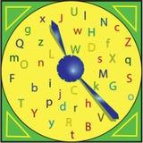 Colored stylish clock Royalty Free Stock Photo