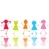 Colored stylized children Stock Image