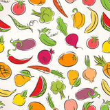 Colored stylized fruit and vegetables Royalty Free Stock Images