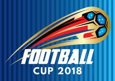 Colored stylized vector poster for football World Cup 2018 Royalty Free Stock Photo