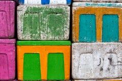 Colored styrofoam boxes Stock Photos