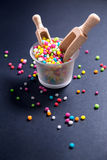 Colored sugar pearls for food decoration Stock Photography