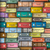 Colored suitcases royalty free illustration