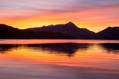 Colored sundown Stock Photography
