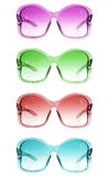 Colored sunglasses. Different colore womans vintage sunglasses Royalty Free Stock Photography