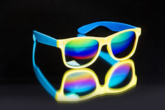 Colored sunglasses. Royalty Free Stock Image
