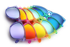Colored sunglasses, summer concept Stock Images