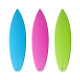 Colored surfboards Stock Photos