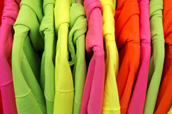 Colored sweaters. Royalty Free Stock Photos