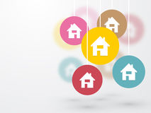 Colored symbols house Royalty Free Stock Images