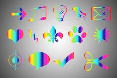 Colored symbols Royalty Free Stock Image