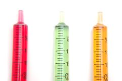Colored Syringe stock photography