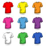Colored T-shirt Collection. Illustration featuring a set of colored t-shirts isolated on white background. Eps file is available Stock Photography