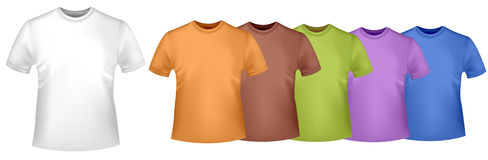 Colored t-shirts. Stock Photography