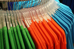 Colored t-shirts Royalty Free Stock Photos