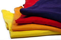 Colored t-shirts Royalty Free Stock Photo