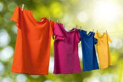 Colored T-Shirts Royalty Free Stock Image