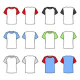 Colored T-shirts Set on White Background. Vector Stock Images