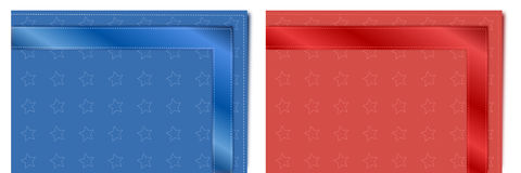 Colored table napkins Stock Images