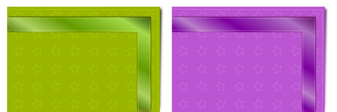 Colored table napkins Royalty Free Stock Photos