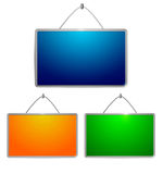 Colored tables Royalty Free Stock Photo